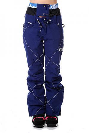 Штаны сноубордические женские  Cooler Dark Blue Picture Organic. Цвет: синий