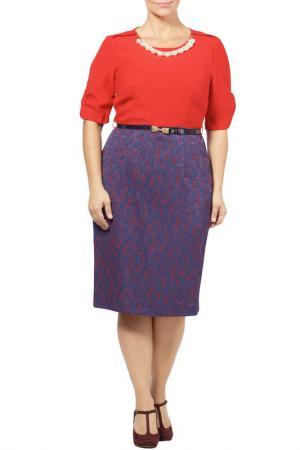 Платье Zedd Plus. Цвет: красный