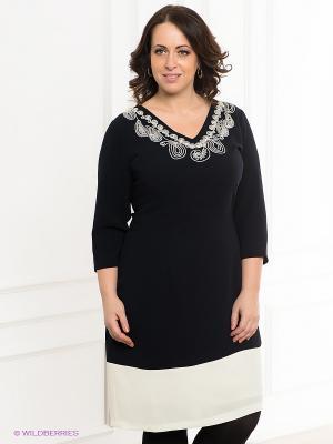Платье VERDA. Цвет: темно-синий, молочный