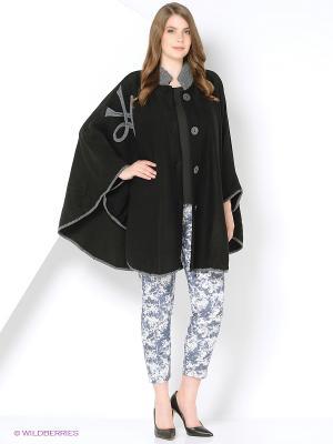 Пончо Milana Style. Цвет: черный