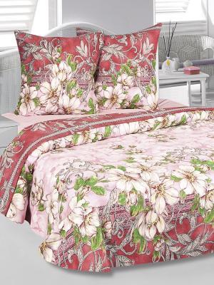 Комплект постельного белья Августа Тет-а-Тет. Цвет: красный, розовый