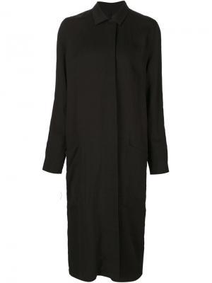Длинное пальто Totokaelo. Цвет: чёрный