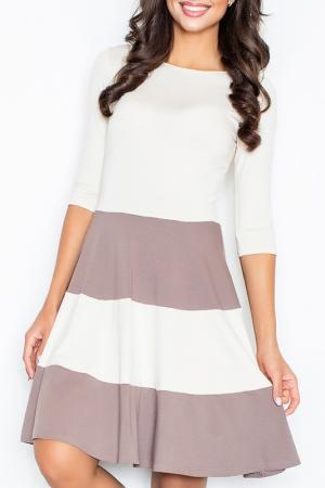 Платье Figl. Цвет: коричневый