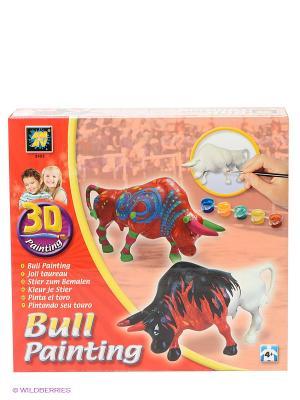 Набор Разрисуй буйволов 3D AMAV. Цвет: красный