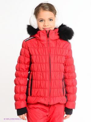 Куртка CACAO. Цвет: красный