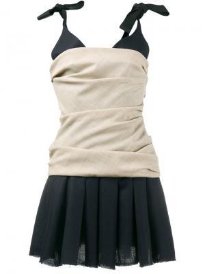 Плиссированное платье без рукавов Jacquemus. Цвет: синий