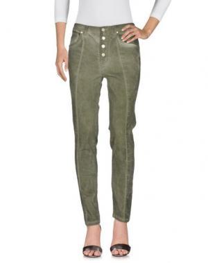 Джинсовые брюки TWENTY EASY by KAOS. Цвет: зеленый-милитари