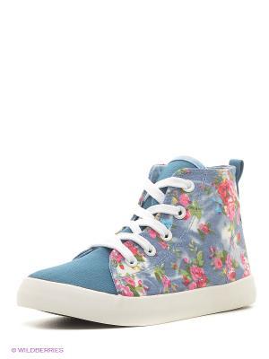 Ботинки KENKA. Цвет: голубой