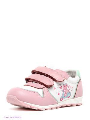 Кроссовки El Tempo. Цвет: розовый, белый