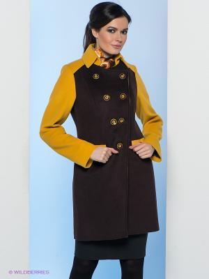 Пальто Electrastyle. Цвет: черный, горчичный