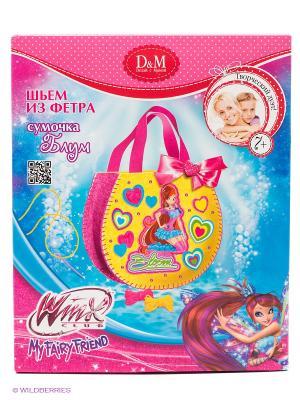 Набор шьем сумочку Блум Делай с мамой. Цвет: розовый, желтый