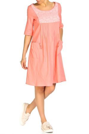 Платье Disetta. Цвет: коралловый