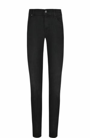 Однотонные джинсы-скинни с потертостями J Brand. Цвет: черный