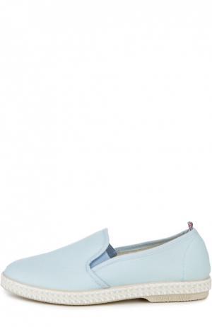 Текстильные эспадрильи Rivieras Leisure Shoes. Цвет: голубой