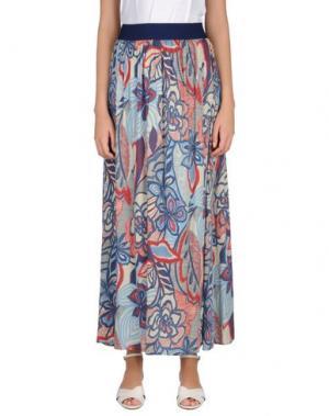 Длинная юбка EMMA&GAIA. Цвет: синий