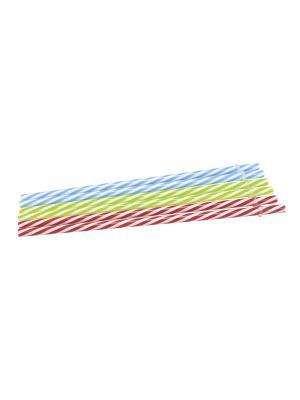 Трубочки для коктейлей Homemade Contento. Цвет: зеленый, голубой, красный