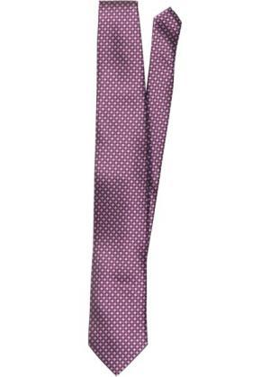 Галстук с минималистичным принтом (лиловый узором) bonprix. Цвет: лиловый с узором