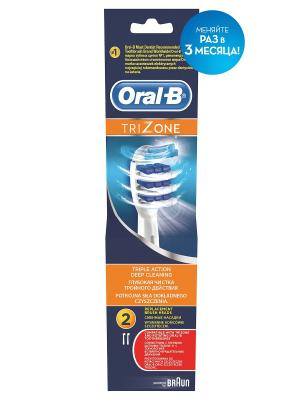 Электрические зубные щётки (POC)  ORAL-B Насадка EB30 TriZone 2шт. Цвет: голубой, белый
