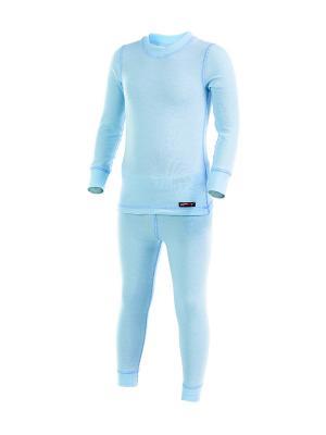 Термобелье-комплект Lynxy. Цвет: светло-голубой