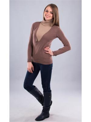 Пуловер Мирося. Цвет: светло-коричневый, бежевый