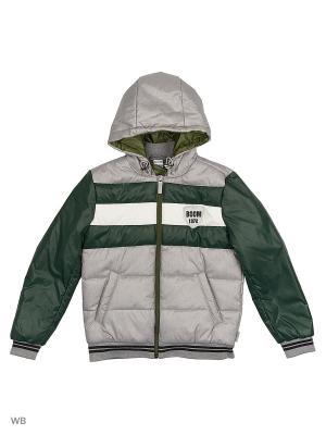 Куртка BOOM. Цвет: хаки, серый меланж, белый