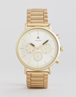 ASOS Золотистые наручные часы PLUS. Цвет: золотой