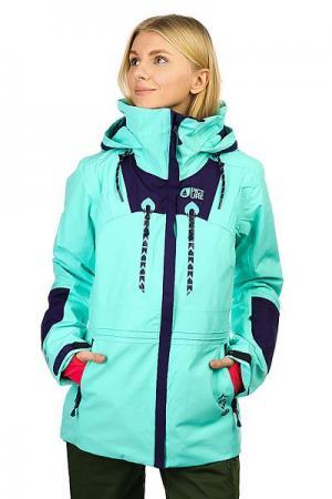 Куртка утепленная женская  Willow Mint Green Picture Organic. Цвет: голубой
