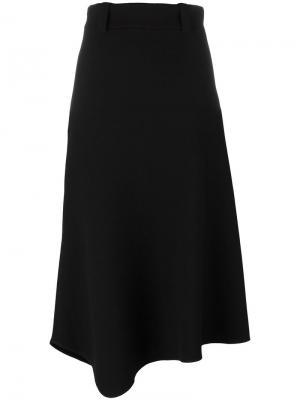 Асимметричная юбка миди Lucio Vanotti. Цвет: чёрный
