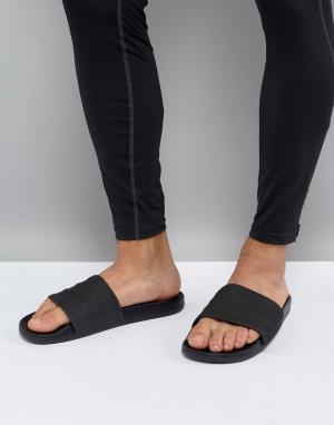 Adidas Черные шлепанцы Adilette CF+ S82137. Цвет: черный