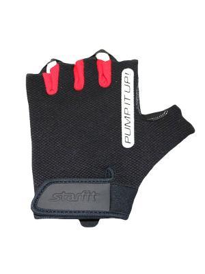 Перчатки для фитнеса STARFIT SU-119. Цвет: черный, красный