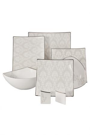 Севриз столовый 23 пр, 6 перс Royal Porcelain. Цвет: белый, серый