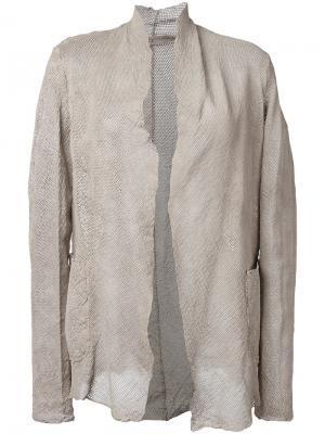 Перфорированный пиджак Salvatore Santoro. Цвет: телесный