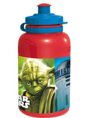 Бутылка пластиковая (спортивная, 400 мл). Звёздные войны Stor. Цвет: красный, черный
