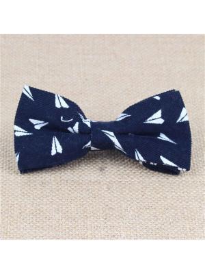 Галстук-бабочка Churchill accessories. Цвет: темно-синий, белый, синий
