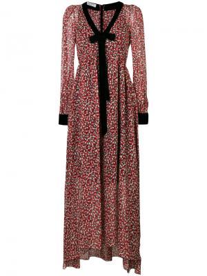 Платье макси с цветочным узором Philosophy Di Lorenzo Serafini. Цвет: красный