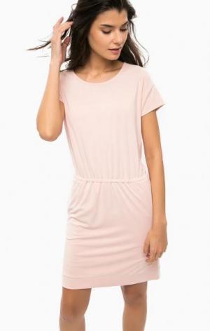 Розовое платье с вырезом на спине Calvin Klein Jeans. Цвет: розовый