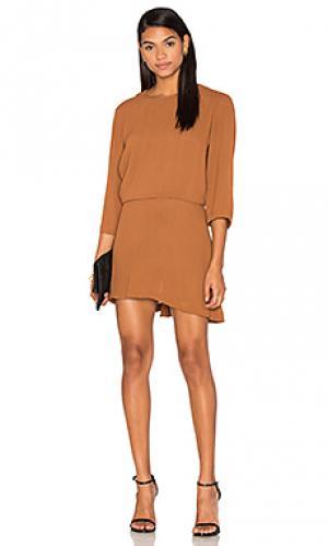 Платье с открытой спиной the ray PFEIFFER. Цвет: коричневый