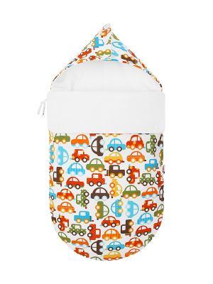 Конверт для новорождённого Берегись автомобиля! (весна/осень) MIKKIMAMA. Цвет: белый, зеленый, коричневый, голубой, красный, оранжевый