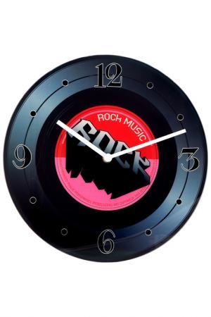 Часы Время музыки настенные Русские подарки. Цвет: черный, белый, красный