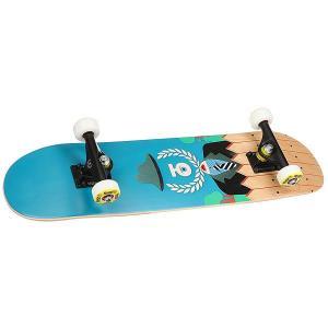 Скейтборд в сборе детский  Insider Blue/Multi 28 x 7 (17.8 см) Юнион. Цвет: голубой,мультиколор