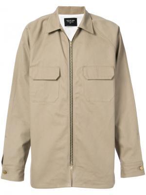 Куртка с косым воротником Fear Of God. Цвет: зелёный