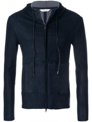 Куртка с капюшоном на молнии Giorgio Brato. Цвет: синий