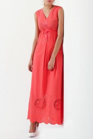 Платье Sassofono Club. Цвет: красный