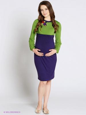 Платье UNIOSTAR. Цвет: фиолетовый, салатовый