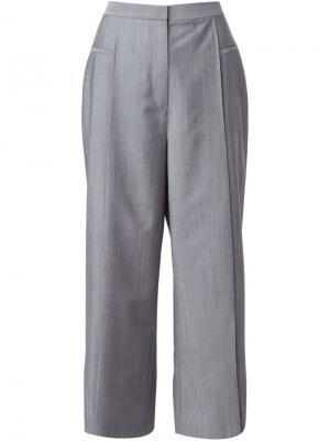 Ширкоие брюки Alexander Wang. Цвет: серый