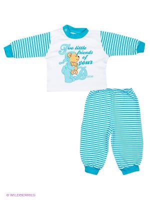 Пижама КОТМАРКОТ. Цвет: голубой, белый
