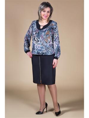 Блуза Милада. Цвет: черный, серый