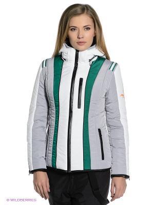 Куртка Sport Vision. Цвет: белый, серый, зеленый