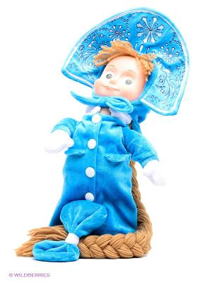 Мягкая игрушка Мульти-пульти маша-снегурочка танцует (м/ф маша и медведь). Цвет: голубой