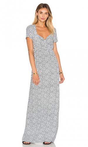 Макси платье yacqui American Vintage. Цвет: белый